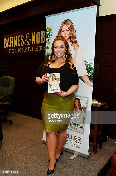 Singer/TV personality Chiquis Rivera signs and discusses her new book Forgiveness at Barnes Noble bookstore at The Grove on April 20 2015 in Los...