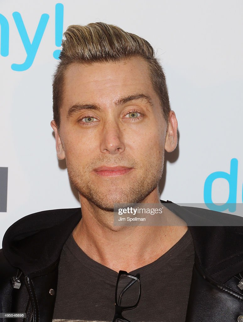 Singer/TV personality Lance Bass attends the USA Network hosts the premiere of 'Donny!' at The Rainbow Room on November 3, 2015 in New York City.