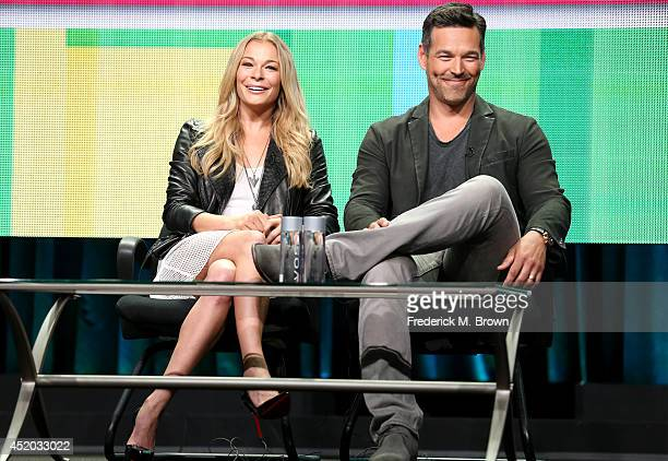 Singer/TV personality LeAnn Rimes and actor Eddie Cibrian speak onstage at the Leann and Eddie panel during the Viacom portion of the 2014 Summer...