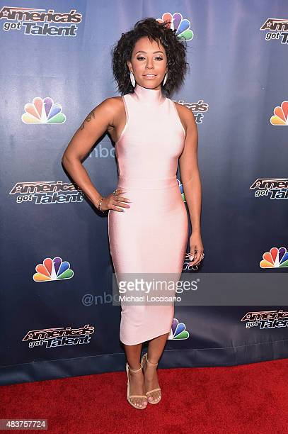 Singer/TV personality Mel B attends the 'America's Got Talent' season 10 taping at Radio City Music Hall at Radio City Music Hall on August 12 2015...