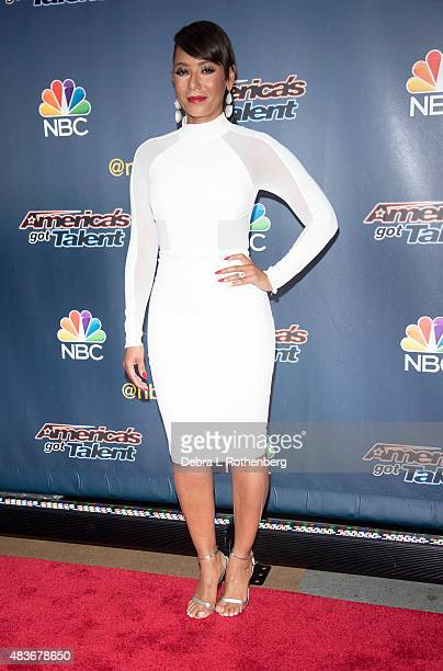 Singer/TV personality Melanie Brown attends the 'America's Got Talent' preshow red carpet arrivals at Radio City Music Hall on August 11 2015 in New...