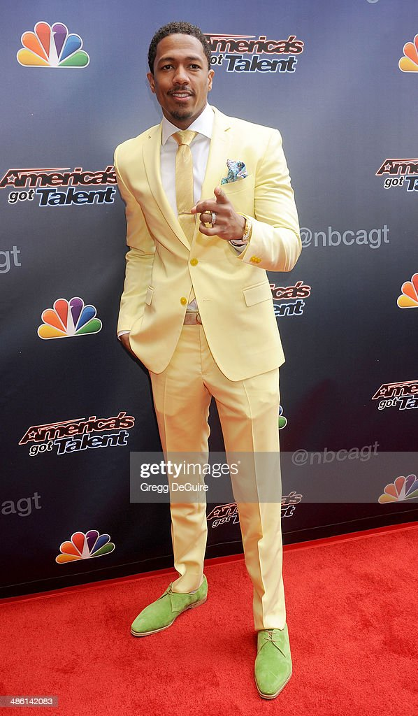 Singer/TV personality Nick Cannon arrives at 'America's Got Talent' red carpet event at the Dolby Theatre on April 22, 2014 in Hollywood, California.