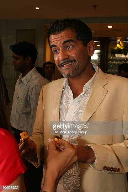Singh owner of Olive during the launch of Rashmi Uday Singh's book 'Around the World in Eighty Plates' at Maurya Sheraton hotel