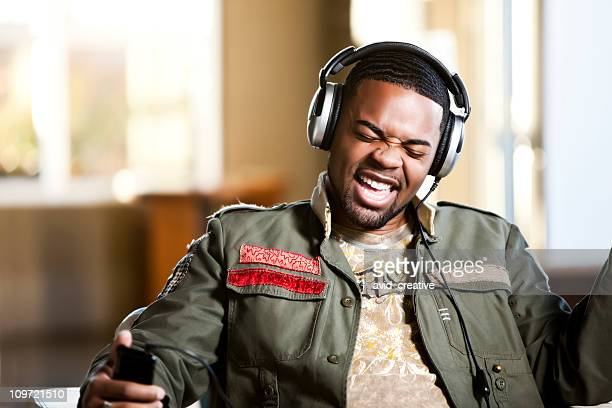 Singing Along with Music on Headphones