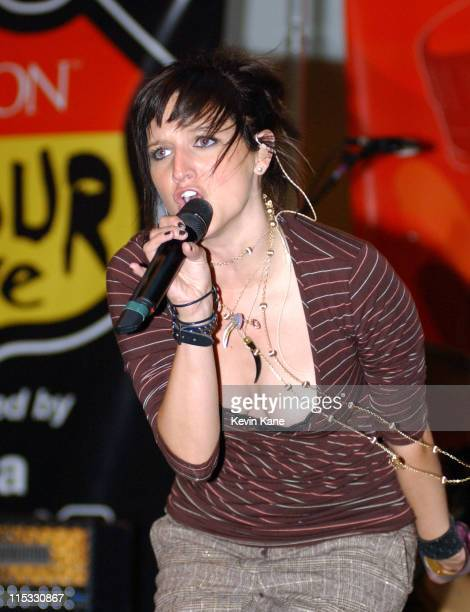 Singing artist and actress Ashlee Simpson performs at Simon DTour Live