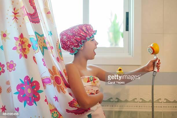 singing at shower