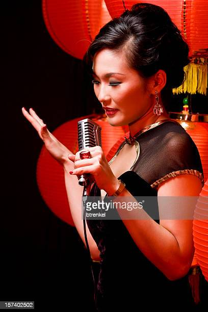 singing for the chinese new year - jazz music 1920s stock photos and pictures