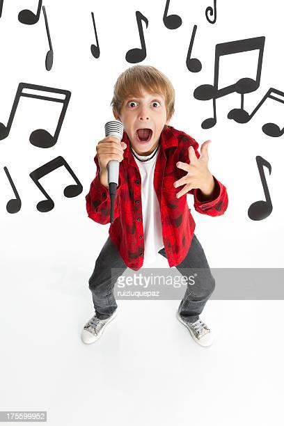 Singing funny boy