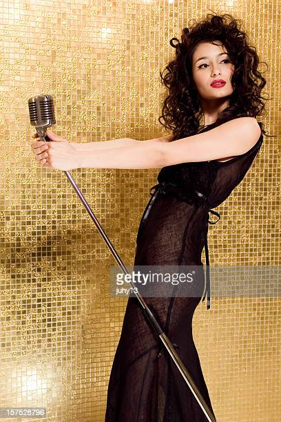 singing girl - diva human role stock photos and pictures