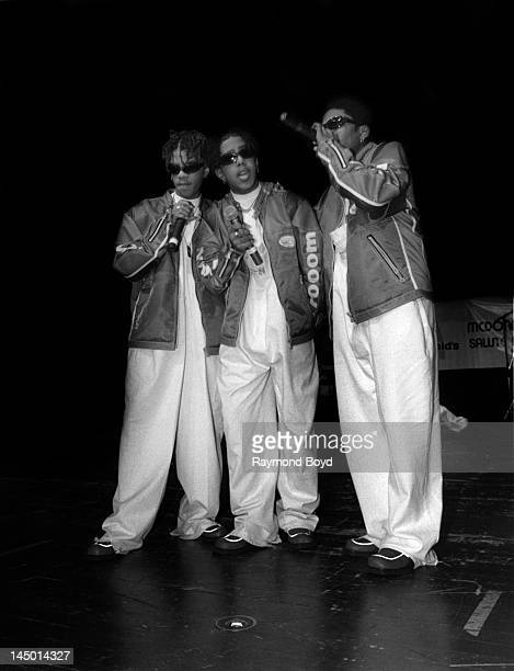 Singing group Immature performs at the Regal Theater in Chicago Illinois in JANUARY 1996