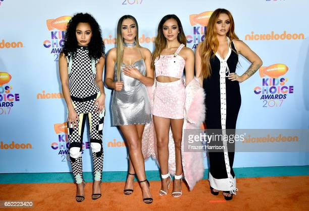 Singing group Little Mix at Nickelodeon's 2017 Kids' Choice Awards at USC Galen Center on March 11 2017 in Los Angeles California