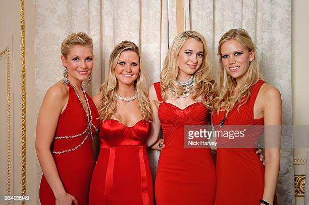 Singing group Passionata consisting of Ellie Laugharne Sophie Elliott Amelia Knight and Cecelia de Lisle attend an event to switch on Swarovski's...