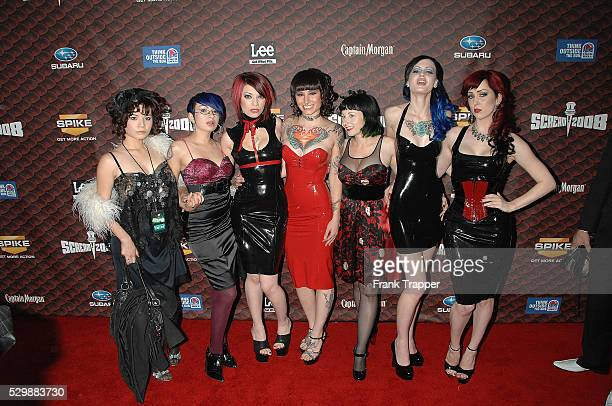 Singing group Suicide Girls arrive at Spike TV's 3rd annual Scream 2008 held at the Greek Theater