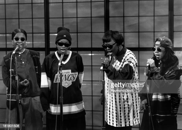 Singing group Xscape performs on 'Good Day Chicago' in Chicago Illinois in NOVEMBER 1993