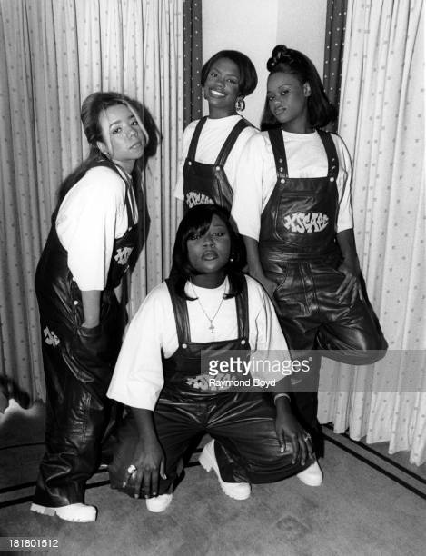 Singing group Xscape poses for photos at the LeMeridien Hotel in Chicago Illinois in SEPTEMBER 1994