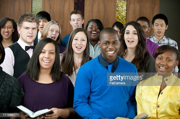 singing hymns - choir stock pictures, royalty-free photos & images