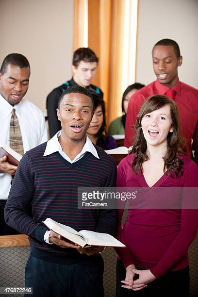 singing hymns - gospel stock photos and pictures