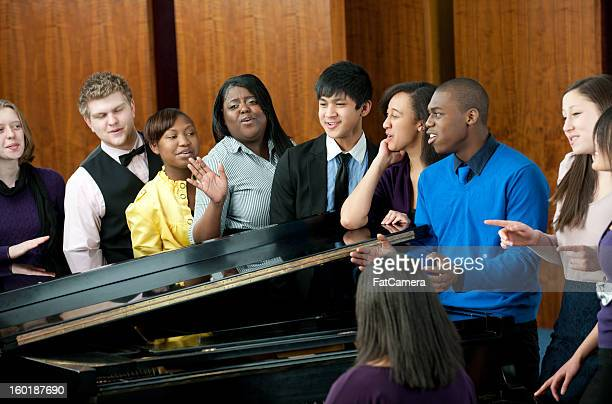 singing - choir stock pictures, royalty-free photos & images