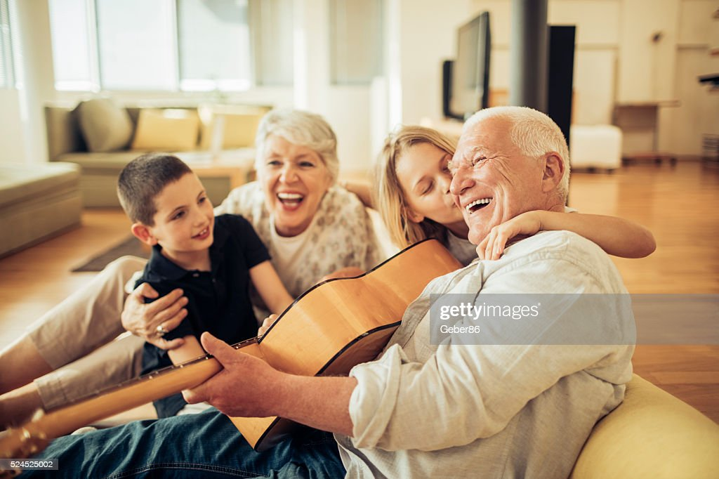 Singing together : Stock Photo