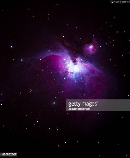 Single 30 second exposure of the Orion Nebula in the constellation of Orion the Hunter. Captured using.. Nikon D600 with t-adapter Celestron Nexstar...