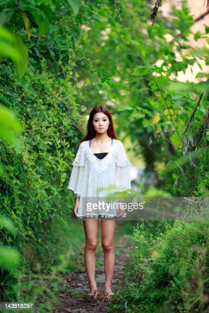 single asian young model portrait