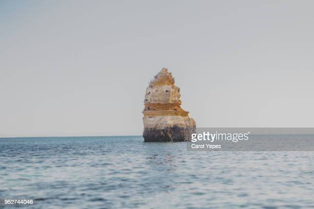 single big rock at the sea, algarve,portugal