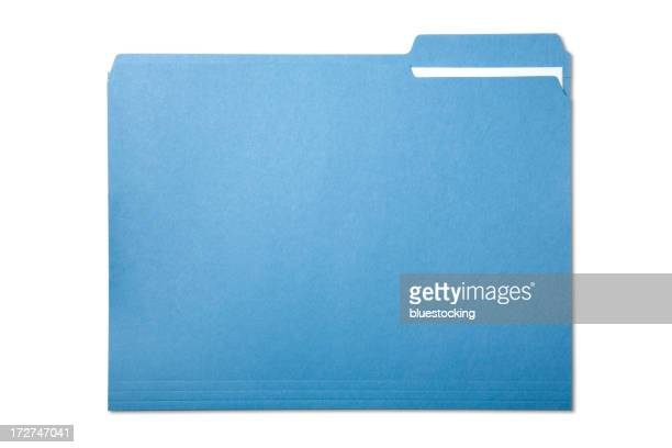 Single blue file folder isolated on white