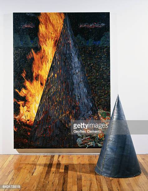 Single Burning Cone from Spiral Installation Series by Jennifer Bartlett