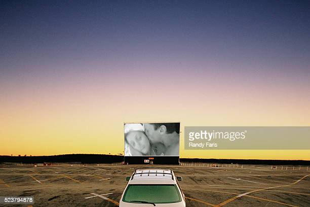 Single Car at Drive-in