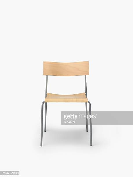 A Single Chair on a White Background