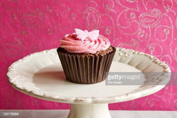 Single chocolate cupcake