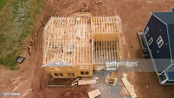 single family house frame - gerville stock pictures, royalty-free photos & images