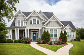 Single Family New Construction Home in Suburb Neighborhood in the South.