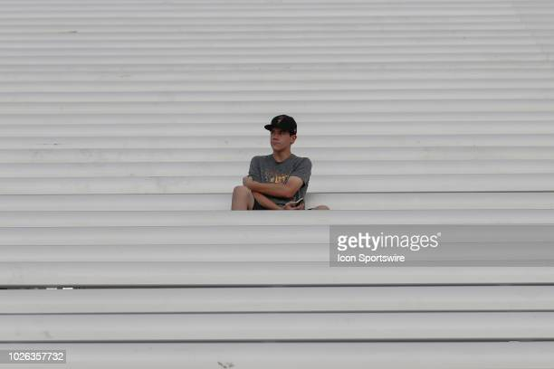 Single fan sits in the stands before the college football game between the UTSA Roadrunners and the Arizona State Sun Devils on Sep 1, 2018 at Sun...