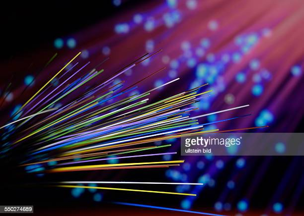 single fibers of a fiber optic cable they enable extremly fast data transfer