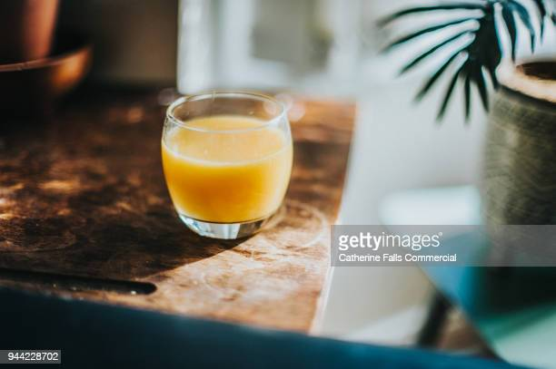 Single Glass of Fresh Orange Juice