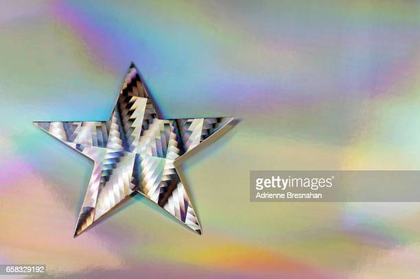 Single Holographic Silver Star