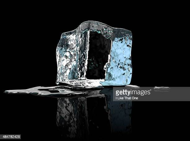 single ice cube - ice stock pictures, royalty-free photos & images