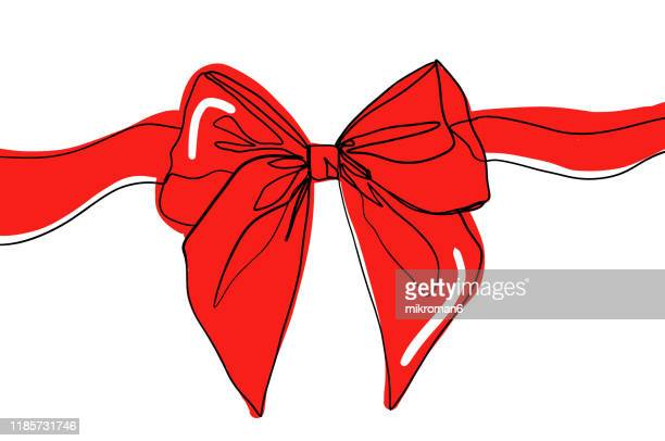 single line drawing of a ribbon - animation stock pictures, royalty-free photos & images
