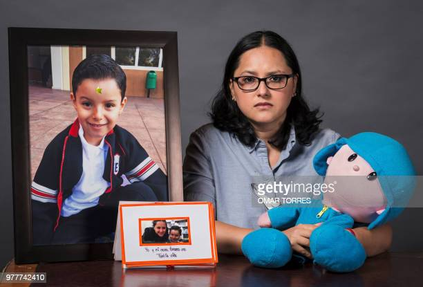 Single mother Miriam Rodriguez Guise who lost her 7yearold son Jose Eduardo in the earthquake of September 19 in a photograph on June 15 2018 in...
