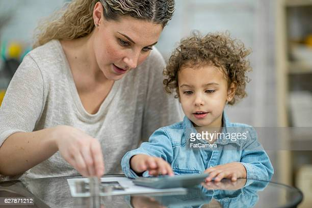 Single Mother Working on the Budget