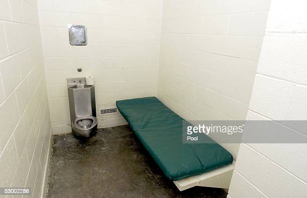 A single occupancy cell is shown at the Santa Barbara County Sheriff Substation May 10 2005 in Orcutt California If convicted Michael Jackson could...