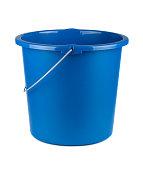 Single plastic blue bucket