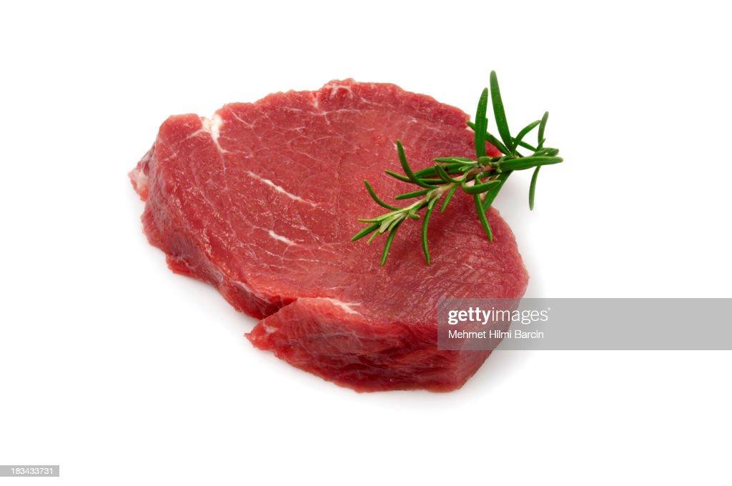 Single Raw Steak : Stock Photo