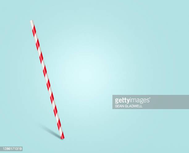 single red and white straw - straw stock pictures, royalty-free photos & images
