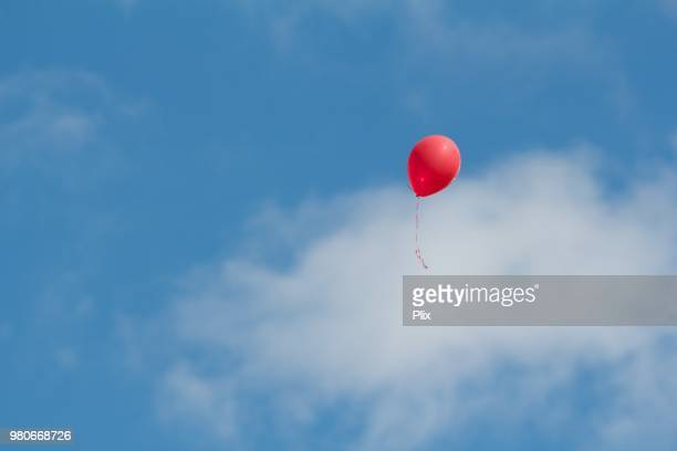 Single Red Balloon Rising