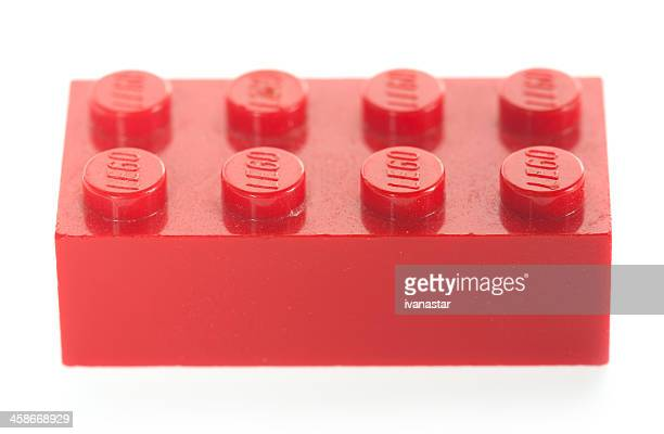 single, red, lego block brick - lego stock pictures, royalty-free photos & images