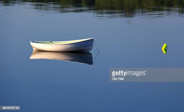 A single Rowboat in Mahone Bay, Lunenburg county, Nova Scotia, Canada