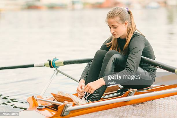 Single Scull Rowing Training