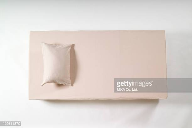 Single sized bed and pillow